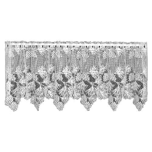 Heritage Lace Woodland 60-Inch Wide by 30-Inch Drop Tier, Ecru (Woodland Lace Curtain)