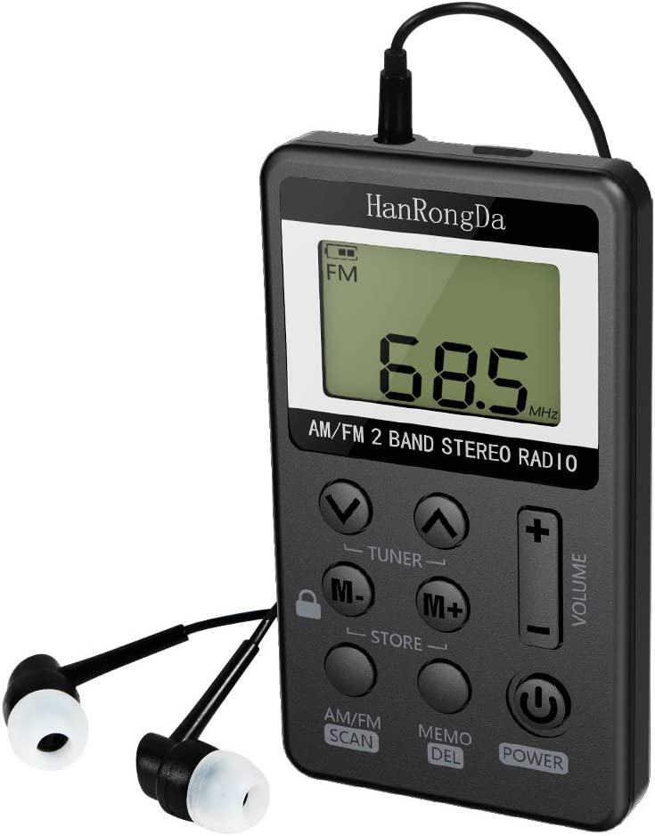 Radio De Bolsillo Am FM de Estéreo Digital Tuning con Pantalla LCD ...