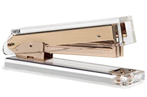 Acrylic & Gold Stapler by OfficeGoods - A Classic Modern Design to Brighten Up Your Desk - Elegant Office Desk Accessory