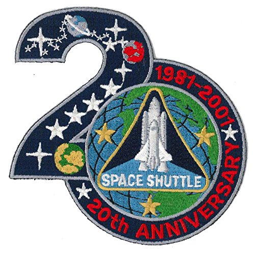 Patch 4 inch - Space Shuttle 20th Anniversary - NASA Anniversary Jacket Patch