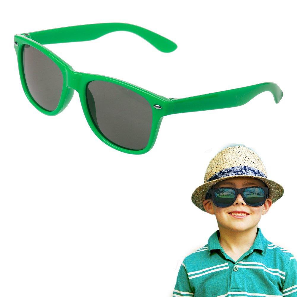 Hacloser Children Sunglasses UV 400 Protection Rivet Eyewear Retainer for Kids Outdoor Sport Glasses (Green)