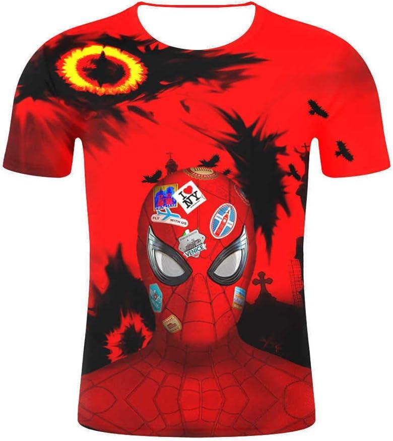 JUFENG Compresión De Deporte De Los Hombres del Hombre Araña Camisa Apretada Capas Entrenamiento del Entrenamiento De Base 3D Superhero Camiseta,B2-XL: Amazon.es: Hogar