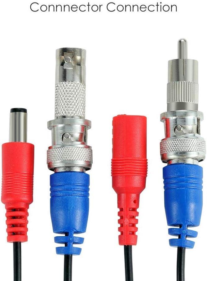 ZOSI 5m Cable de BNC Video y Alimentaci/ón DC para C/ámara de Vigilancia DVR Sistema Seguridad Hogar
