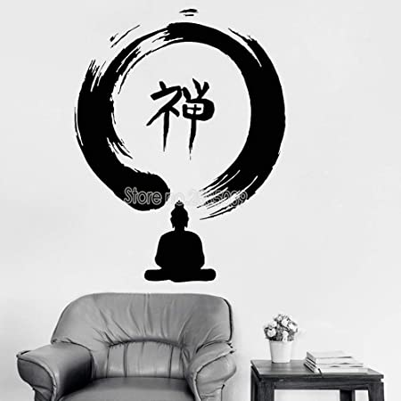 zqyjhkou Diseño Buda Zen Yoga Etiqueta de la Pared Vinilo ...