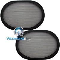 6 x 9 Universal Steel Mesh Protective Speaker Grills-Pair