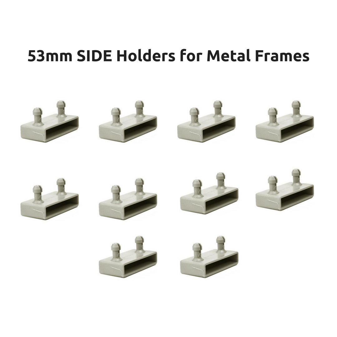 53mm Side Bed Slat Holders Caps for Metal Frames - 2 Prongs (Pack of 10) The Bed Slats Company