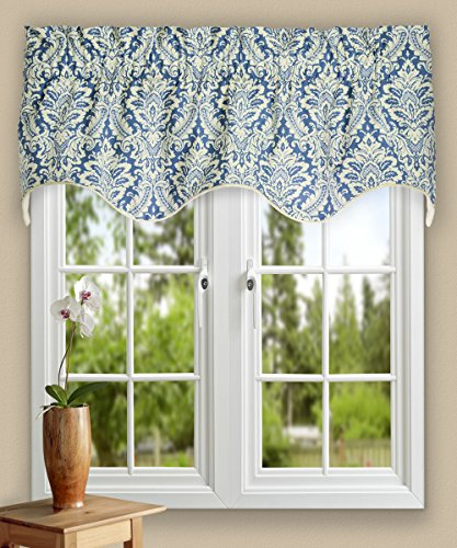 Ellis Curtain Donnington 50-by-15 Inch Lined Duchess Filler Valance, Cornflower