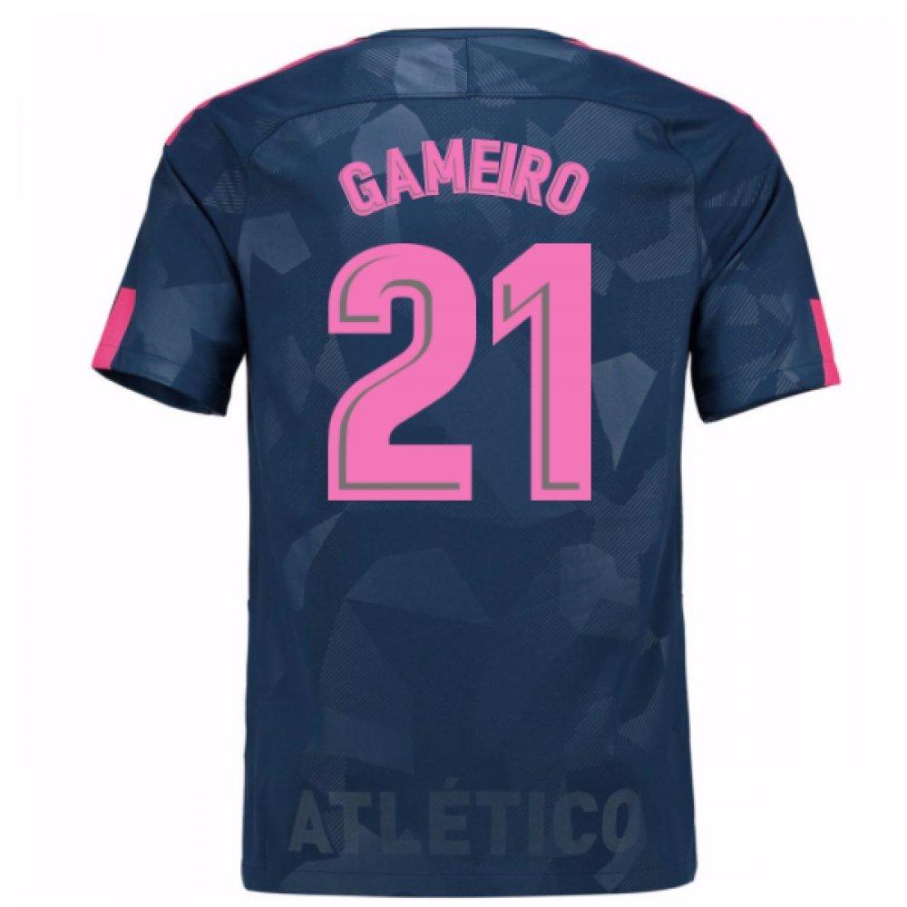 2017-18 Atletico Madrid Third Shirt (Gameiro 21) Kids B076Q1QJDLGrey SB 25-27\