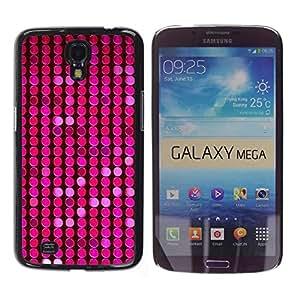 iKiki Tech / Estuche rígido - Pattern Pink Purple Dots Bright - Samsung Galaxy Mega 6.3 I9200 SGH-i527