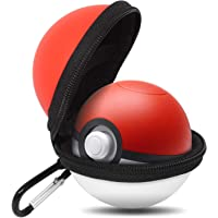 Pokeball Plus étui de Transport, leegoal Pochette de protection zippée rigide avec porte-clés pour Lets Go Evoli Pokeball Plus, Pokemon Laisse Aller Pikachu Poke Ball Plus
