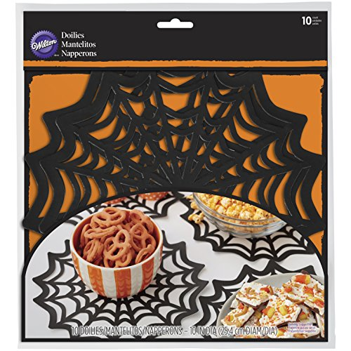 Wilton Large 10 in. Spider Web Doilies 10-Count (Spider Web Decorations)