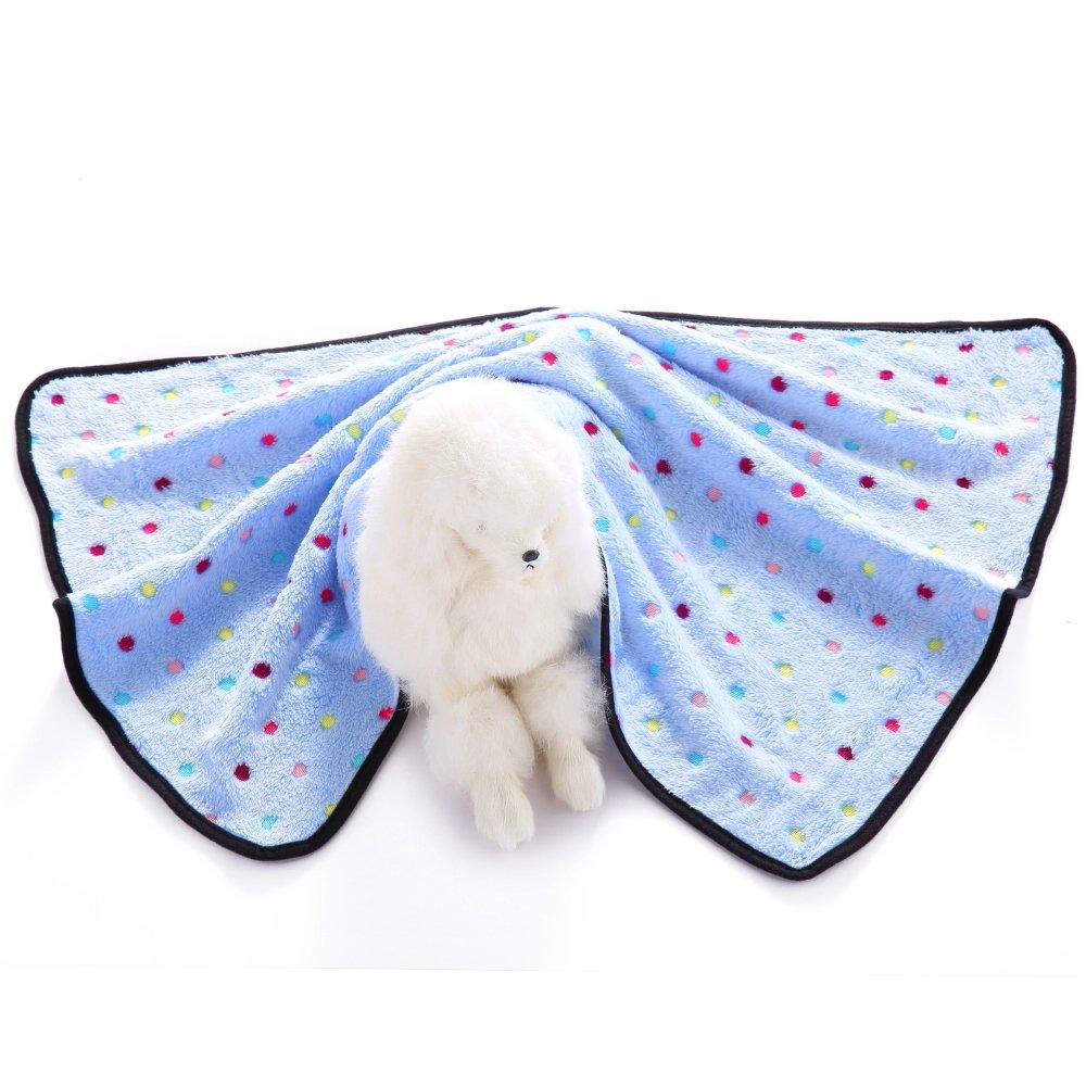 Pet Dog Blanket Fleece,Lonni Lovely Pet Paw Prints Sleeping Mats Blankets for Medium Dogs Cats Animals(Medium,40.930.7'')