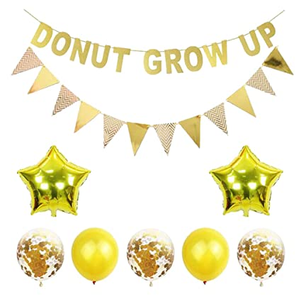 Amazon.com: Fenteer Donut Party Decorations Kit - Donut Grow ...