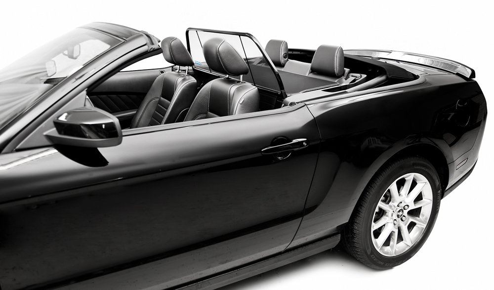 2005-2014 Mustang Convertible Love The Drive Wind Deflector Screen (For Vehicle Without Light/Style Bar)