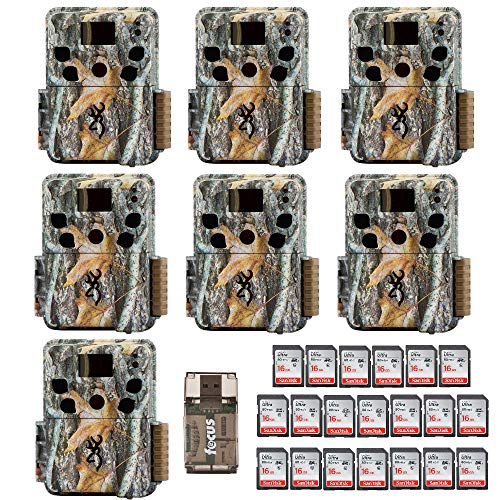 Ten Browning Dark Ops HD Pro Trail Cameras (BTC-6HDP) with 20 16GB Memory Cards and Focus Card Reader