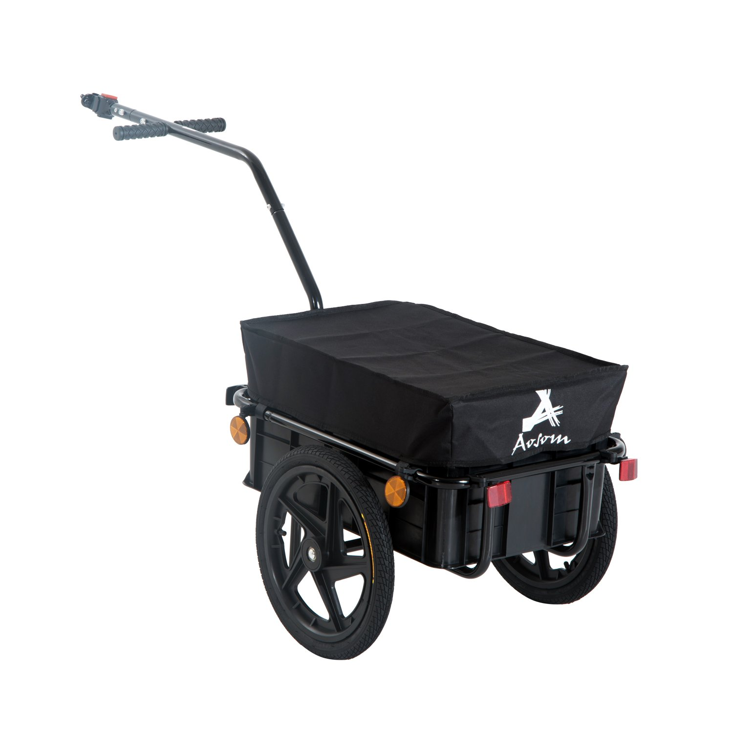 Associated product image for Aosom Enclosed Bicycle Cargo Trailer - Black