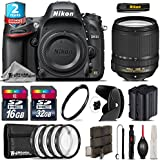 Holiday Saving Bundle for D610 DSLR Camera + 18-140mm VR Lens + 2yr Extended Warranty + 32GB Class 10 Memory + Backup Battery + Macro Filter Kit + 16GB Class 10 + UV Filter - International Version