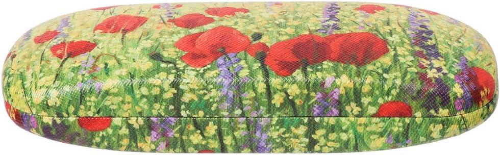Cuigu Caja de Gafas diseño de Pintura óleo Funda de Gafas de Lectura Gafas de Sol Caja de almacenaje Estilo Art Vintage, Metal, 02#, 6.30