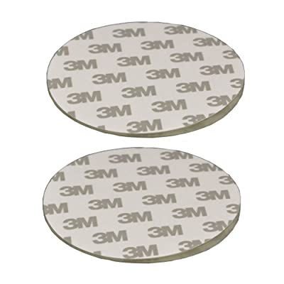 "80mm(3.15"") Circular Adhesive Plastic Disc/One Side Coated Stick Pad for Suction Cup Items,2pcs"