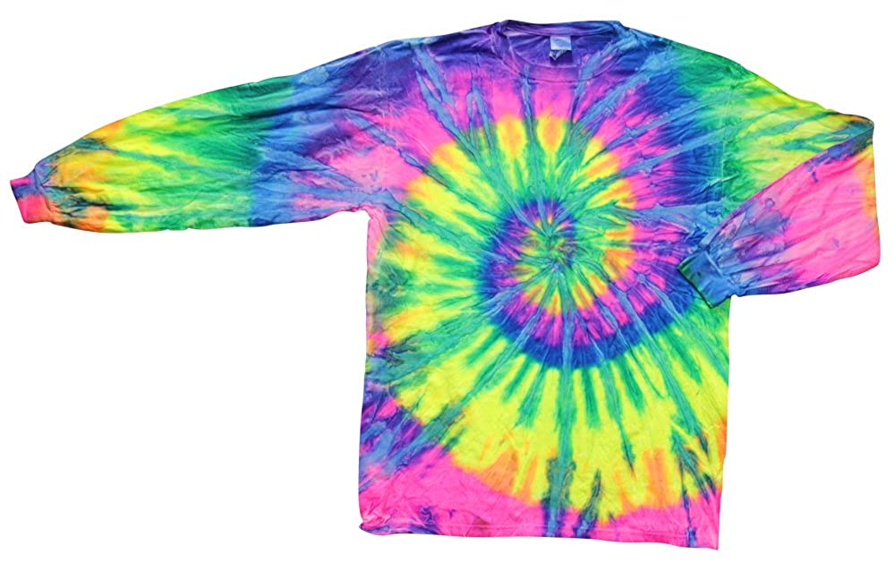 Amazon Com Tie Dye Shirt Long Sleeve Crazy Flo Rainbow Medium