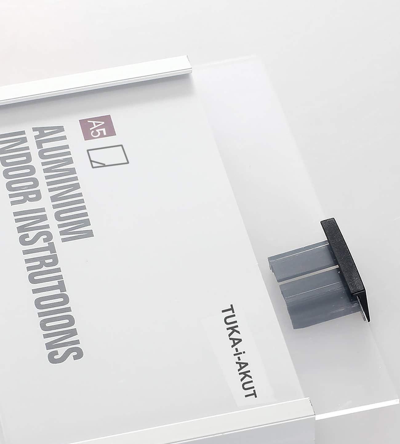 B/üro T/ürschild A4 Infoschild f/ür Wandmontage Anschrauben oder Ankleben TUKA-i-AKUT 5st Aluminium und Klare Abdeckung B/üroschild zum selbst beschriften f/ür schild 297 mm x 210 mm TKD8302-A4-5x