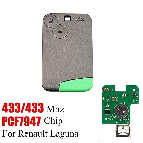 Euopat Llaves del Coche, Botones Tecla remota Inteligente para Renault Laguna Espace 2001 A 2006 Tarjeta Inteligente Mando a Distancia