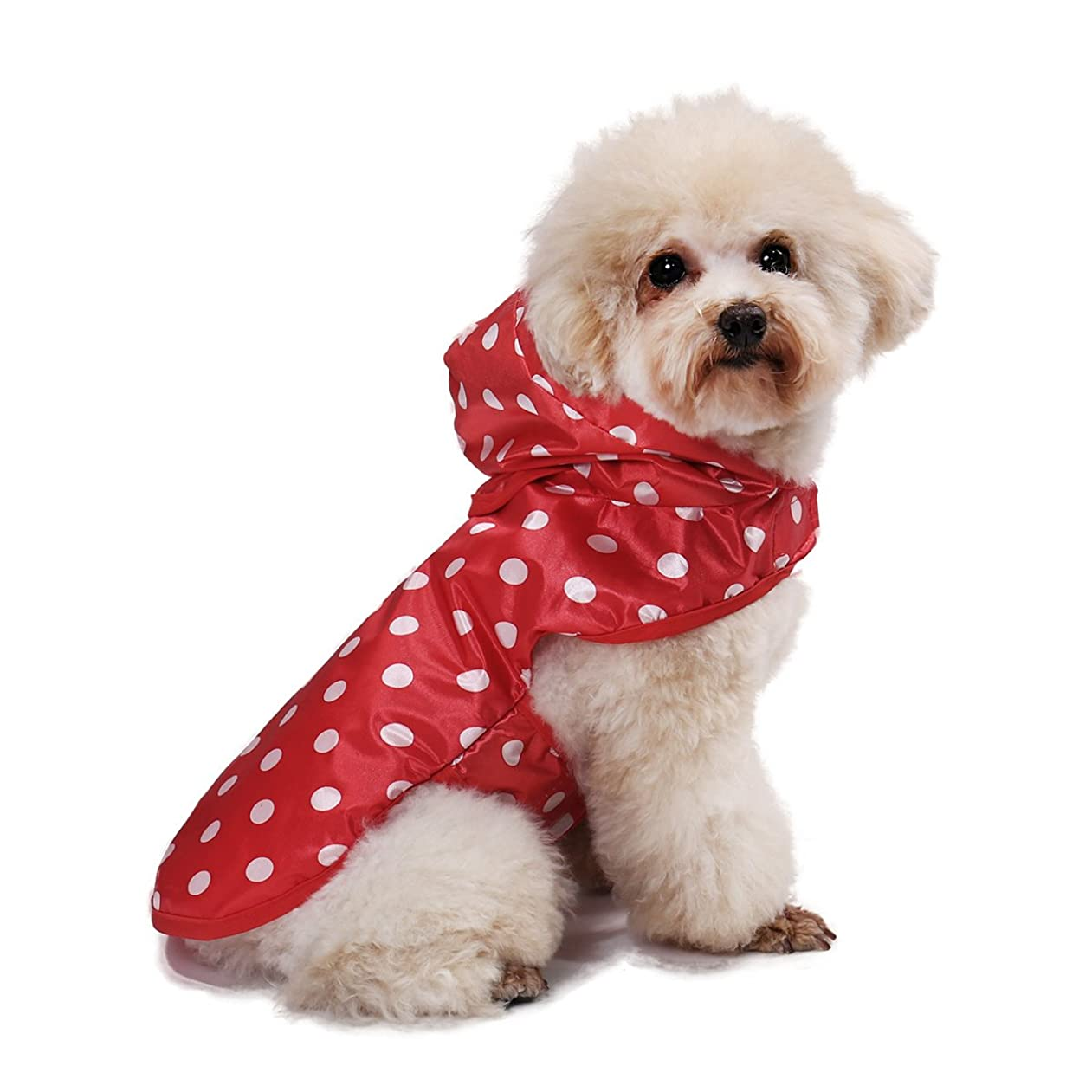 見るカテナ大惨事呉屋デパート 犬用レインコート ペット用品 小動物 猫 レインポンチョ 小型犬 中型犬 雨具 透明 雨の日のお散歩に カッパ 帽子付き 梅雨対策