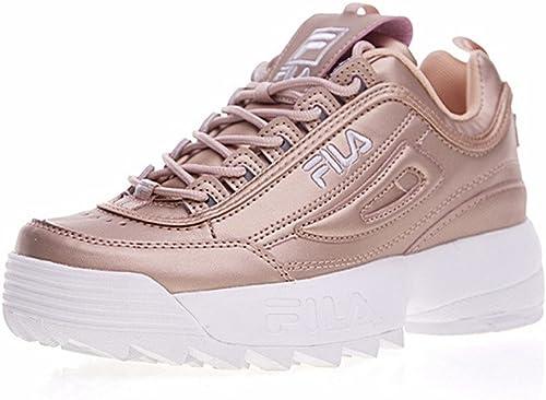 chaussures fila rose brillant