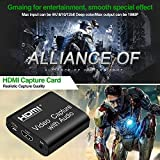 LEADNOVO Audio Video Capture Card with Loop Out, 4K HD 1080P 60FPS USB 2.0 to HDMI Capture Card for Live Streaming Video Recording for PS3/4, Xbox One & Xbox 360, Switch, DSLR, Camcorders