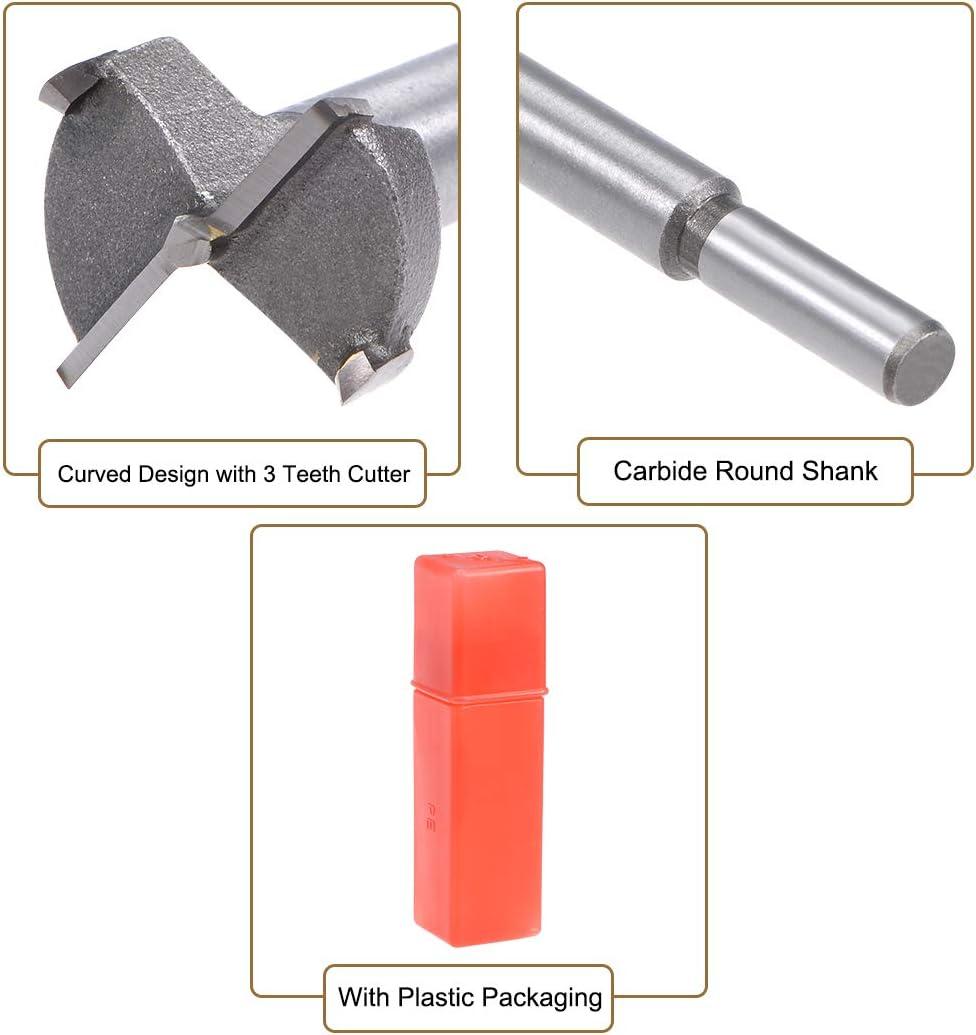 Sourcing map Forstner Foret /à bois pour scie cloche en carbure pointe hexagonale pour charni/ère contreplaqu/é MDF Outil CNC