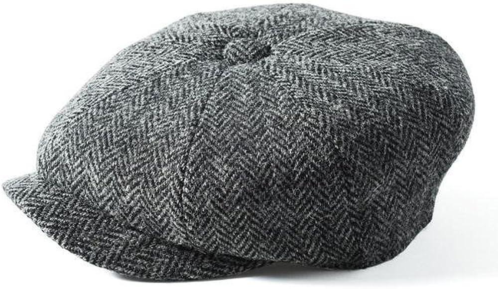 Failsworth Cappelli Carloway 8-Piece Bakerboy Harris Tweed Cappello in Blu//Grigio Mix