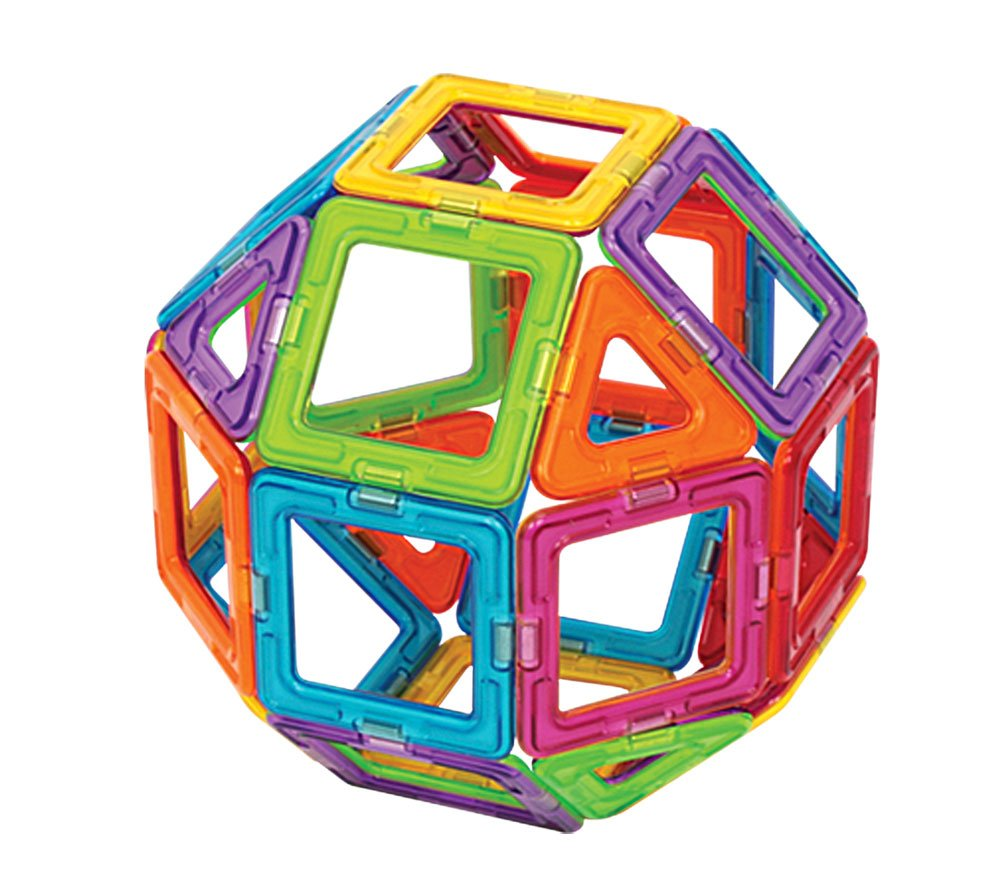 Magformers Basic Set (62-Pieces)  Magnetic Building Blocks, Educational Magnetic Tiles, Magnetic Building STEM Toy by Magformers (Image #4)