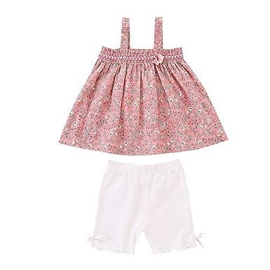 Hongyuangl Blusa Blanca Camiseta + Bloomers Algodón Pantalones ...