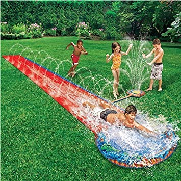 CHILDRENS KIDS SOAK N SPLASH 16 AQUA GARDEN WATER SLIDE SPRAY