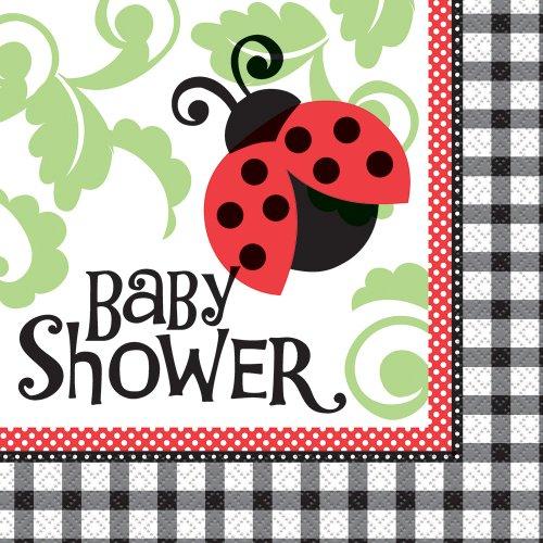 Ladybug Baby Shower Napkins, 16ct (Ladybug Baby Shower Favors)