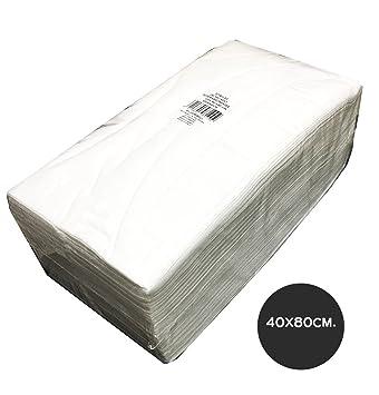 Toallas desechables plegadas 40x80 alta absorción sesiomworld 75uds: Amazon.es: Belleza