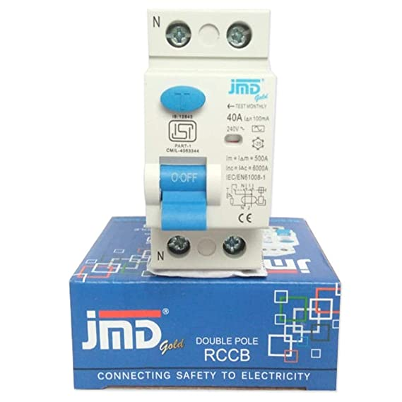 JMD GOLD RCCB Double Pole 40 AMP/100MA 240 V Residual Current ...