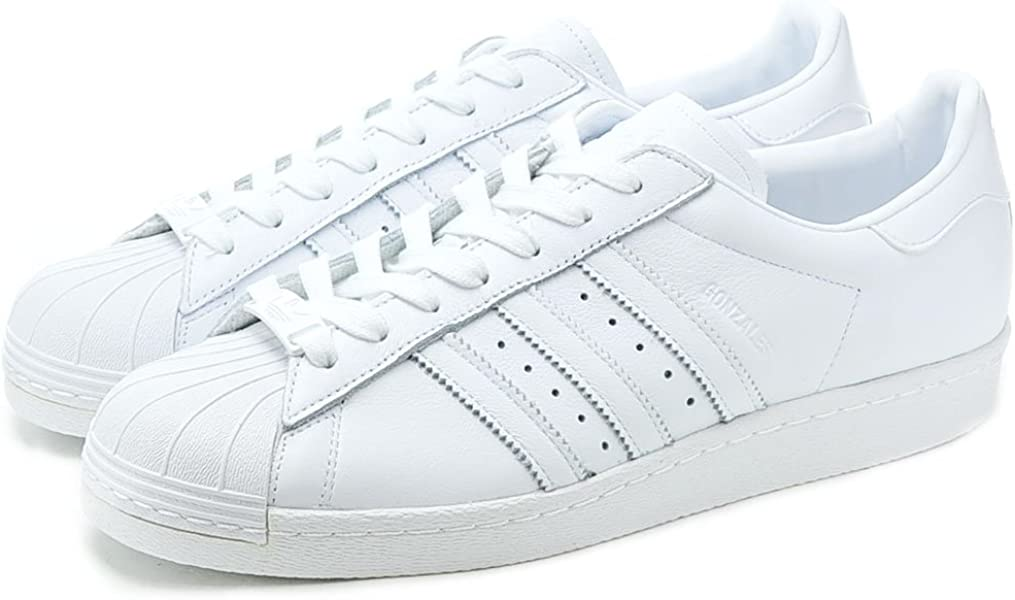 543e25aab5cb adidas Sneakers - Men - Superstar 80s Leather Mark Gonzales White Mono  Customisable Sneakers For Men - 42  Amazon.co.uk  Shoes   Bags