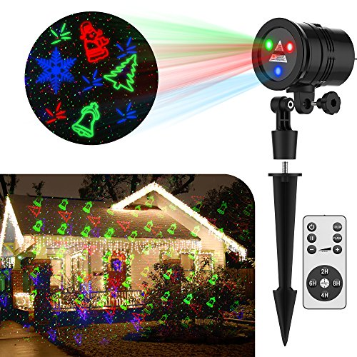 Christmas Laser Lights GameWill With 19 Slides Pattern Show Decoration for Xmas Holiday Party by GameWill