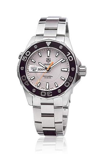 TAG Heuer WAJ1111.FT6015 - Reloj para mujeres, correa de goma color negro: Amazon.es: Relojes