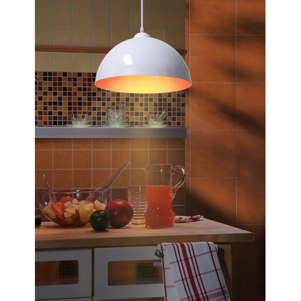 BAYTTERR Design 2x Industrielle Vintage LED Pendelleuchte Hngeleuchte 30cm Fr E27 Leuchtmittel Schwarz Und Weiss Whlbar Wohnzimmer Esszimmer