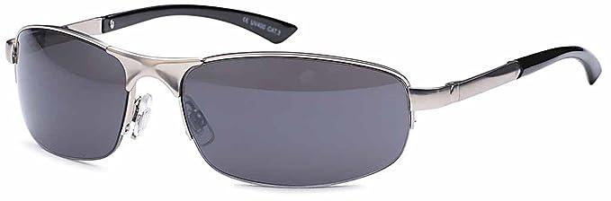 kleine ovale Unisex Sonnenbrille Metallbrille hochwertige Bearbeitung UV400 (silberfarben) RIetUVxm7R