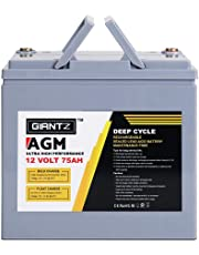 GIANTZ 12V 75Ah Deep Cycle Battery 1600 Cycles