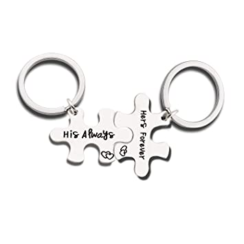 Couples Lovers Anniversary Gifts - Mens Womens Key Rings Chains Keyrings  Gifts for Boyfriend Girlfriend Husband a26425e4b83c