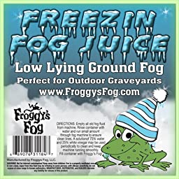Freezin Fog Outdoor Low Lying Ground Fog Juice Machine Fluid - 1 Gallon - The Haunted House Owner\'s Choice for Outdoor Graveyard Fog