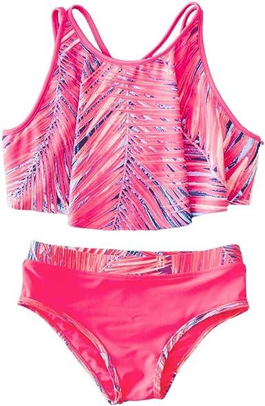 7-14 AS ROSE RICH Girls 2-Piece Bathing Suits Summer Beach Sports Multiple Colors Bikini Swimsuit