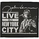 beatles in new york - Beatles Men's Live In New York City Woven Patch Black