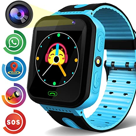 Kids Smart Watch Phone GPS Tracker Gadget HD Touchscreen Smartwatch SOS Dial Call Micro Chat Camera Anti-Lost Math Game Gizmo Wrist Watch Alarm Clock ...
