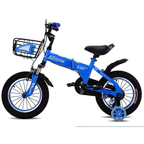 Bicicletas Plegable niño Silla de Paseo de la Bici-AzulB ...