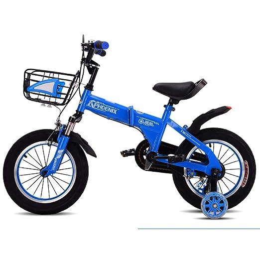 Bicicletas Plegable niño Silla de Paseo de la Bici-AzulB 18inch ...